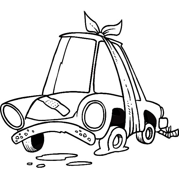 600x612 Flat Car Tire Coloring Pages Best Place To Color