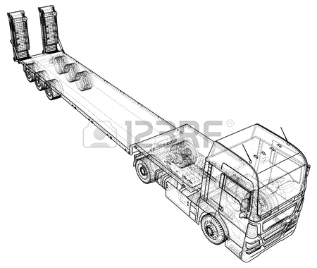 450x380 147 Flat Bed Truck Cliparts, Stock Vector And Royalty Free Flat