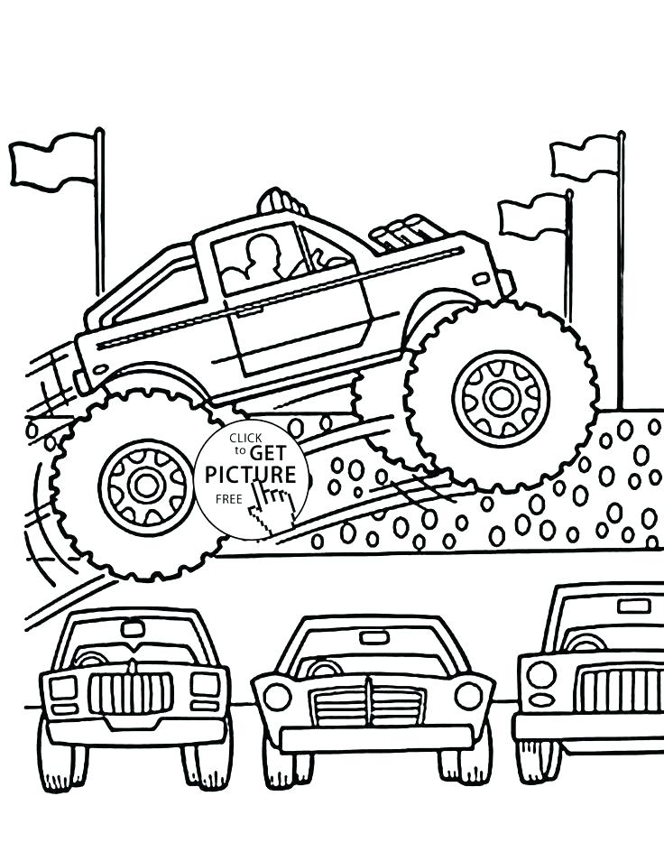 736x944 Blaze The Monster Truck Coloring