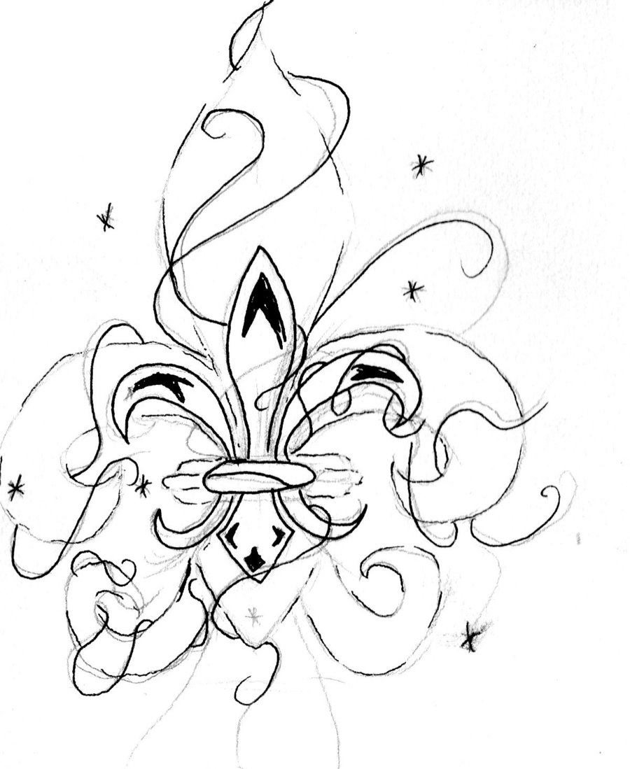 Fleur De Lys Drawing At Getdrawings Com Free For Personal Use