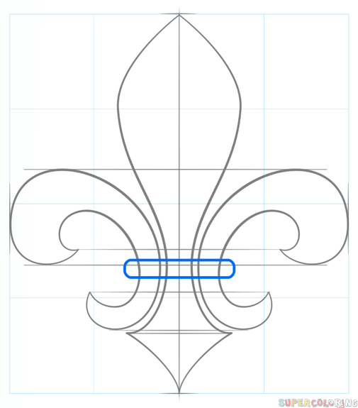 505x575 How To Draw A Fleur De Lis Step By Step Drawing Tutorials