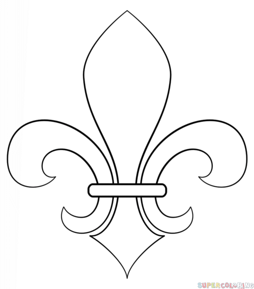 505x575 How To Draw A Fleur De Lis Step By Step. Drawing Tutorials