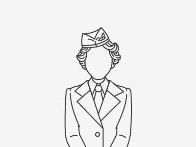 Flight Attendant Drawing At Getdrawings Com Free For Personal Use
