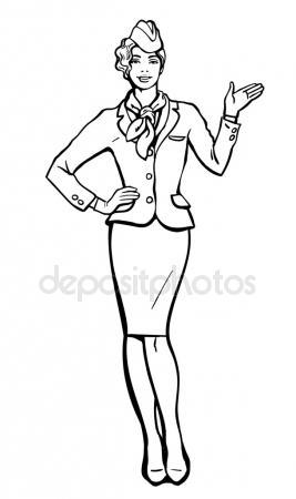 267x450 Cartoon Flight Attendant Stock Photos, Royalty Free Cartoon Flight