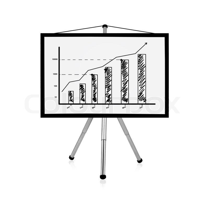 800x791 Flip Chart With Chart Stock Photo Colourbox