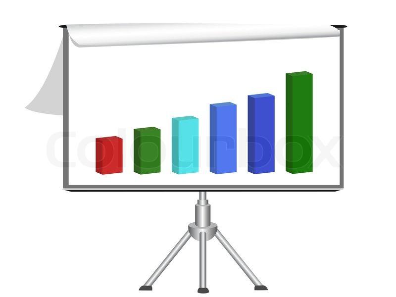 800x600 Flip Chart With Diagram Stock Vector Colourbox
