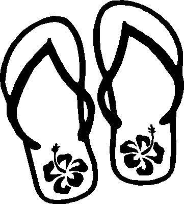 361x400 Coloring Page Flip Flops Hobby Embroidery Flipping