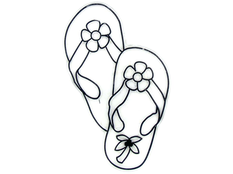 965x722 Flip Flop Coloring Page Hand Drawn Flops At The Summer Beach