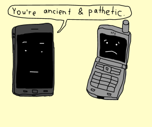 300x250 Smartphone Insults Flip Phone For Being Old