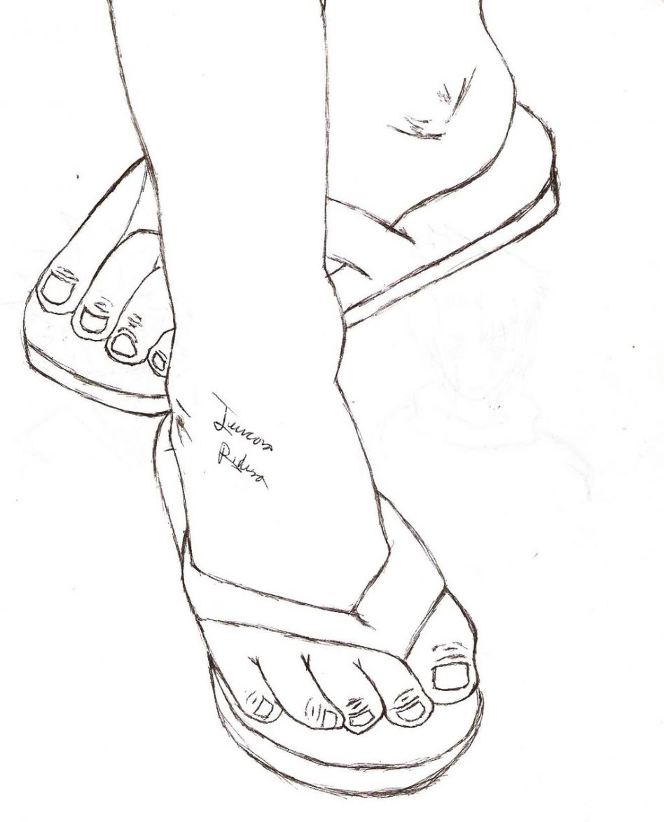 flipflop drawing at getdrawings com