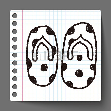 450x450 Flip Flop Doodle Drawing Royalty Free Cliparts, Vectors, And Stock