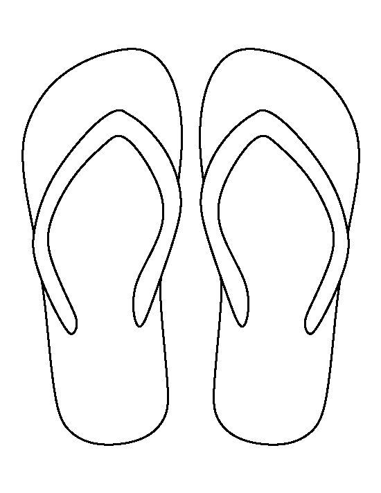 550x712 Flip Flop Pattern. Use The Printable Outline For Crafts, Creating