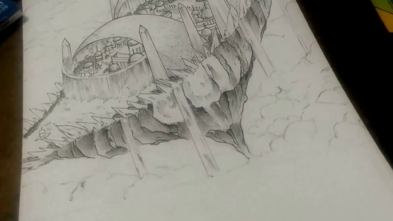 Floating Island Drawing