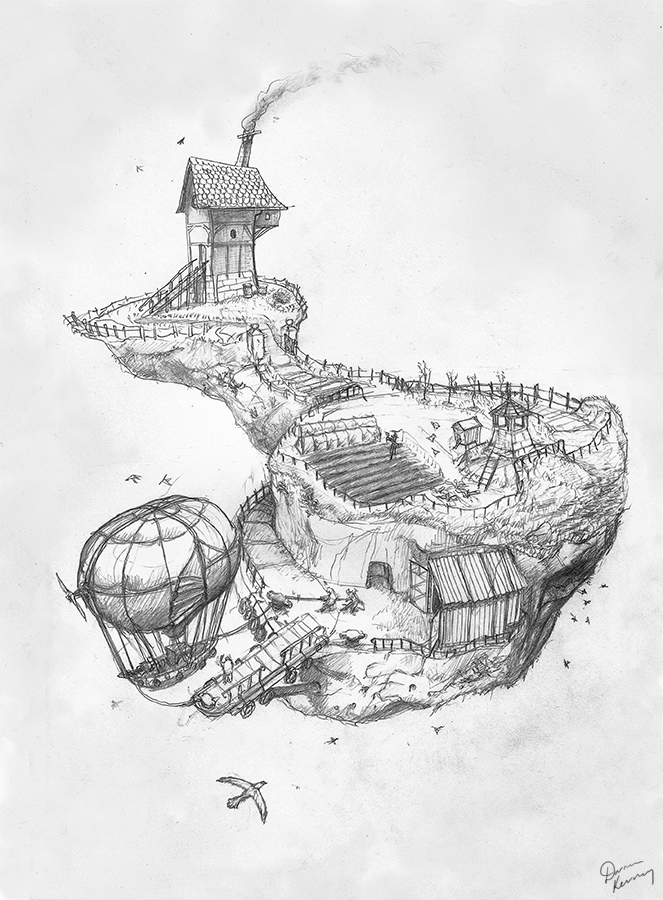 663x900 Floating Island With Airship [Update]