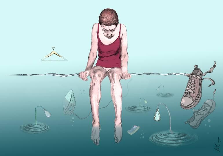 770x539 Saatchi Art Flood Drawing By Katarzyna Czapska