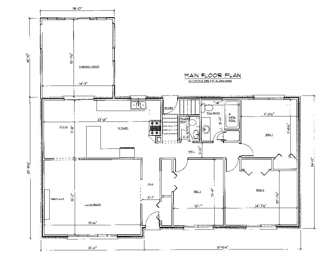 Floor plan drawing at free for personal for Floor plan sketch