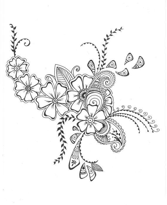 570x702 gallery art design drawing flower