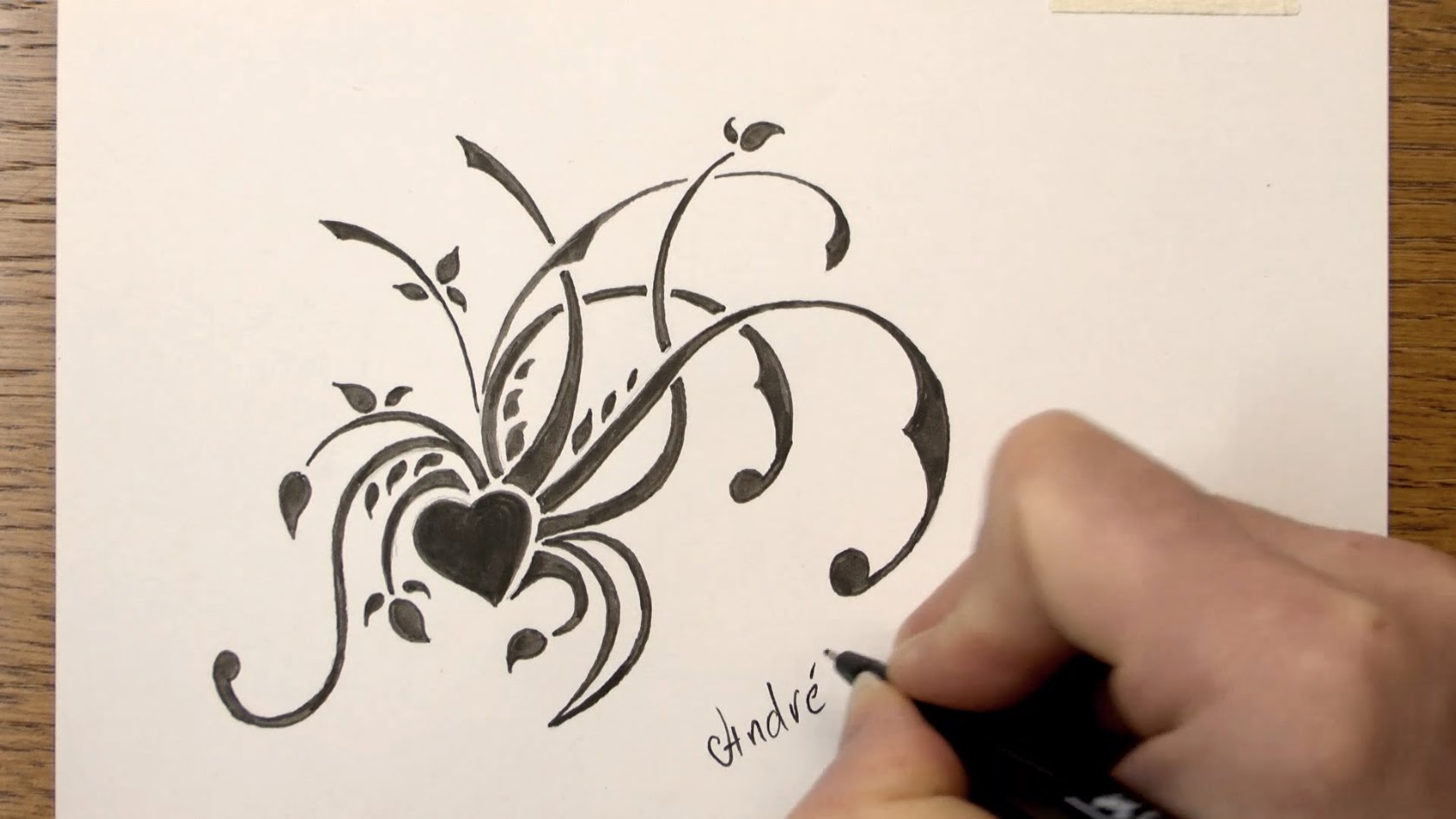 1679x945 How To Draw A Simple Floral Tribal Design With Markers