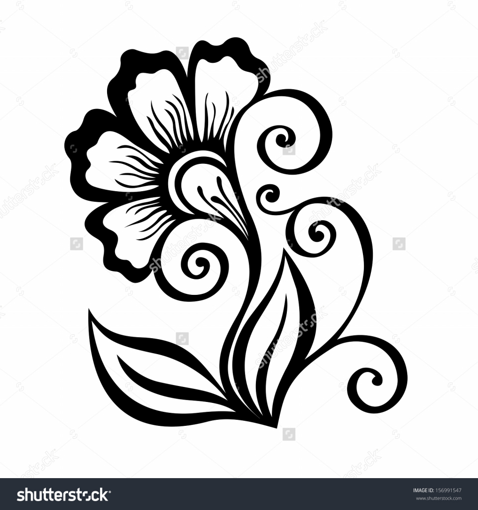 960x1024 Simple Flower Design Drawing Simple Floral Designs For Drawing