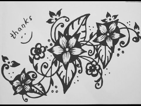 480x360 Floral Design Drawing Tutorial 18