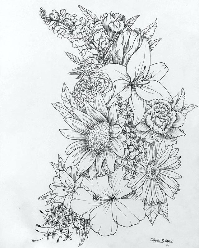 640x799 Flowers Drawing Drawing Of A Flower 6 Nice Design Draw Flower Step