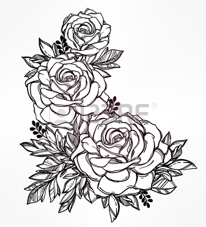 409x450 Hand Drawn Flower Stock Photos. Royalty Free Business Images