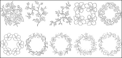 425x203 Download Flower Type Of Line Drawing Vector Diagram 6 Free