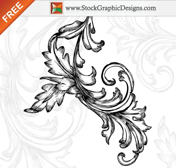 600x570 Hand Drawn Floral Free Vector Art Designs 123freevectors