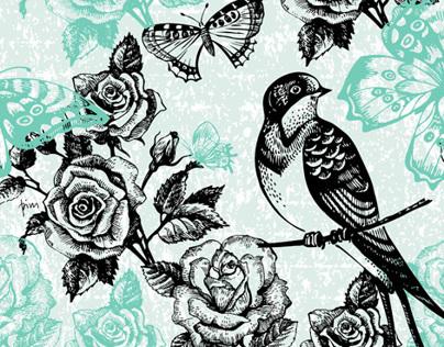 404x316 Hand Drawn Vintage Floral Patterns On Behance
