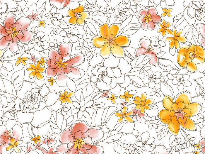 700x525 Artistic Floral Patterns And Flower Illustrations (Vol.02