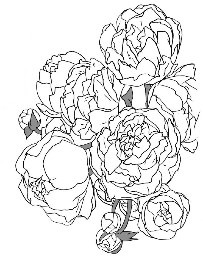 670x854 Floral Print