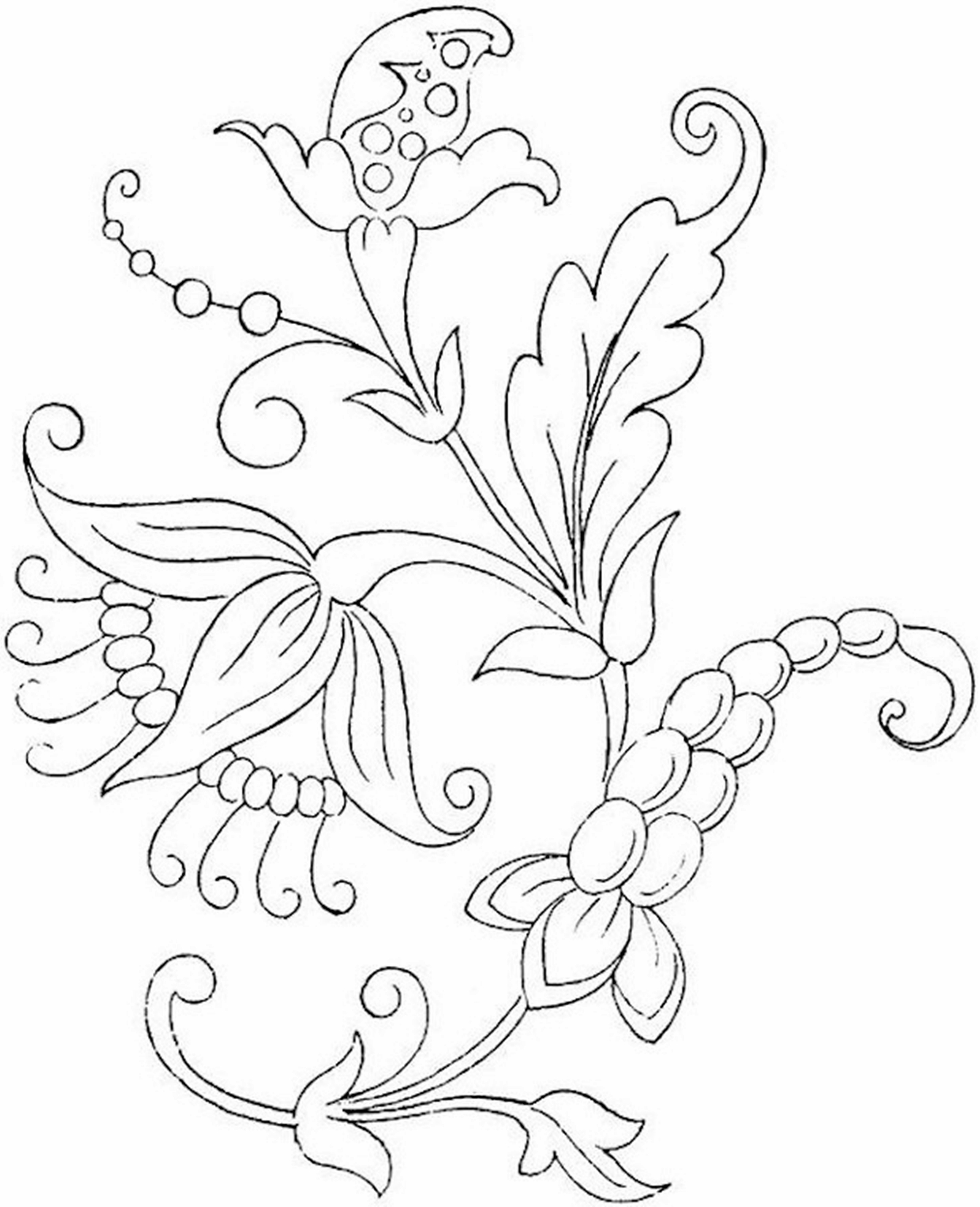 2221x2736 Free Printable Flower Coloring Pages For Kids