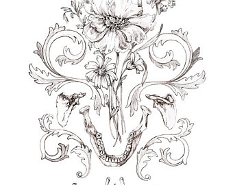 340x270 8x10 Print Of Original Drawing Blooming