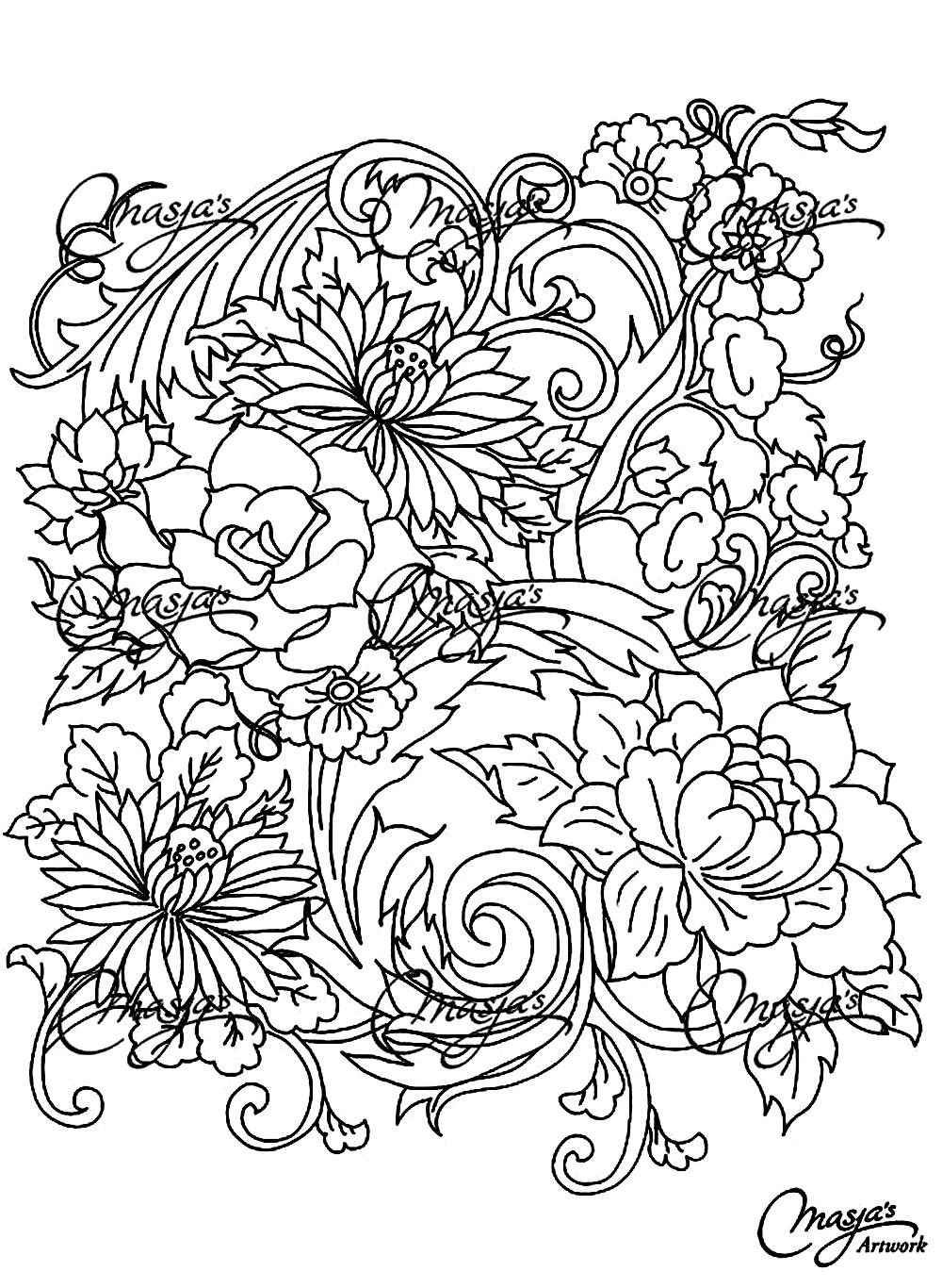 1000x1366 Drawing Flower Flowers Amp Vegetation