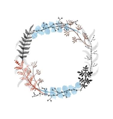 380x400 Hand Drawn Floral Wreath Vector Vectorsstencils