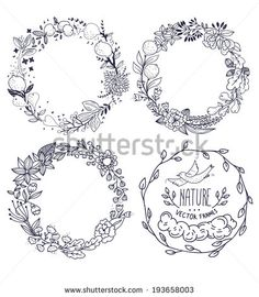 236x270 Image Result For Moon And Flower Wreath Drawing Drawing
