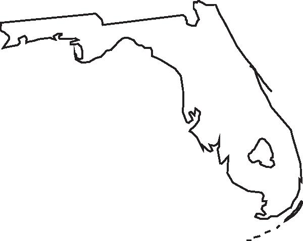 600x478 Florida Outline Clip Art
