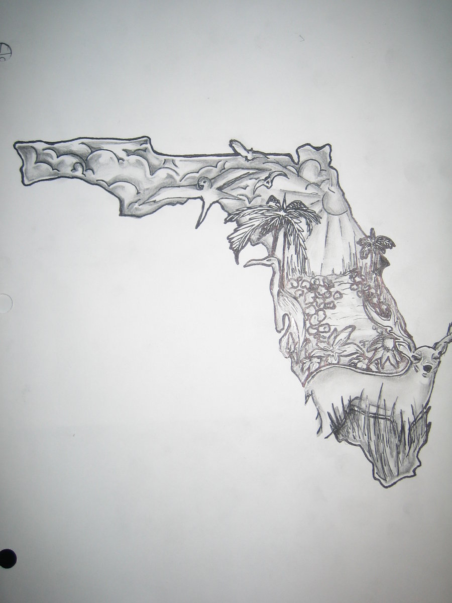 Line Art Tattoos Florida : Florida drawing at getdrawings free for personal use