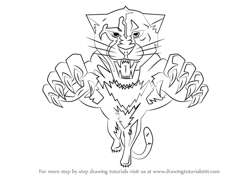 800x565 Learn How To Draw Florida Panthers Logo (Nhl) Step By Step