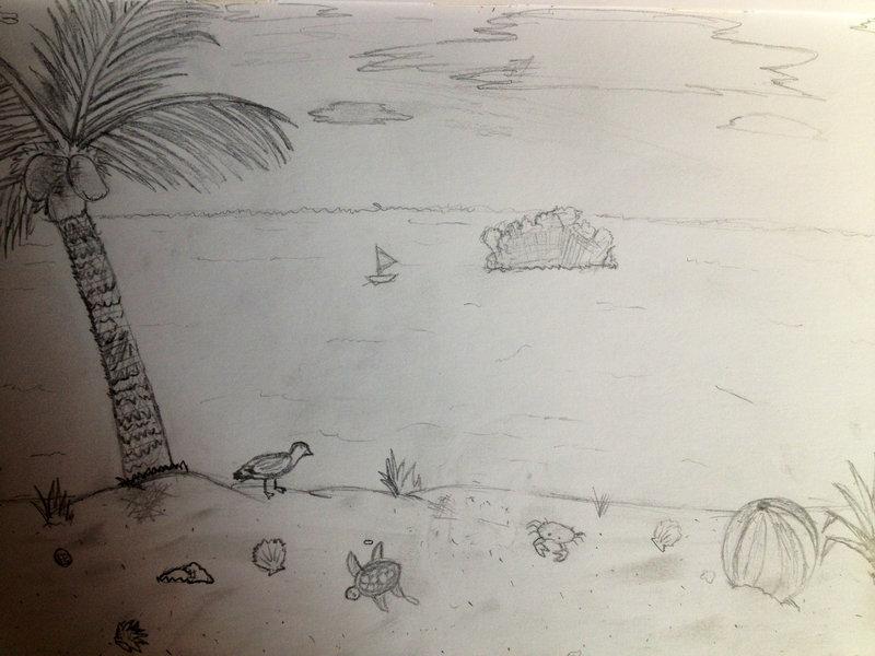 800x600 Florida ,key West Beach Drawing By Soaringthroughart
