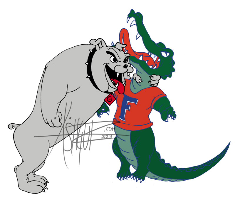 800x698 Georgia Bulldog Choking Florida Gator Commission By Ashgutz