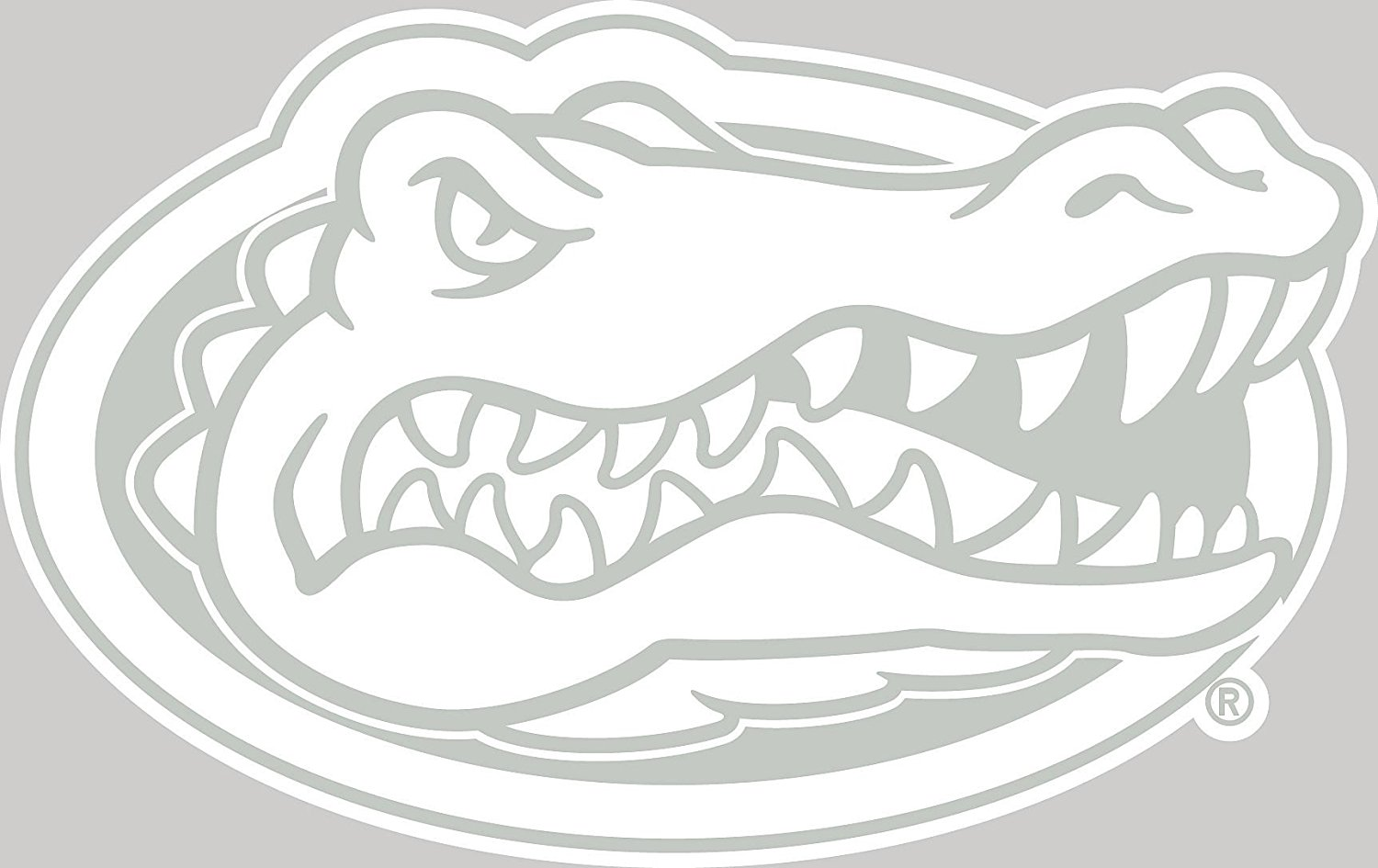 1500x945 Ncaa Florida Gators White Logo Decal Automotive