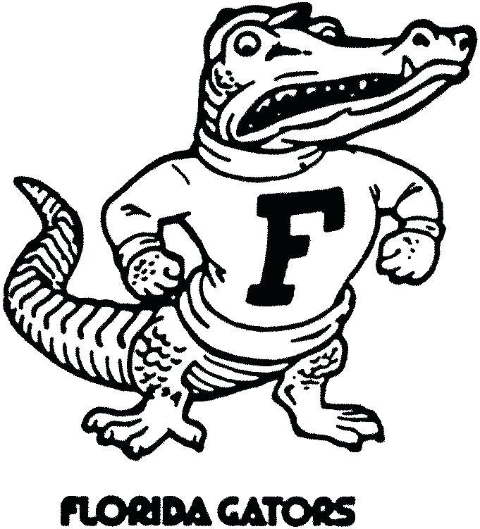 681x751 Florida Gators Coloring Pages