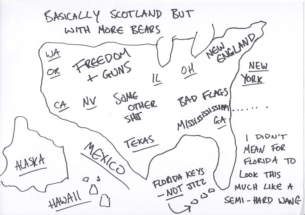 990x700 For Independence Day We Asked Brits To Draw A Map Of The Us