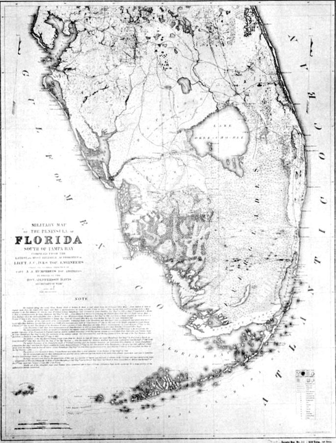 684x900 Vintage Map Of Southern Florida