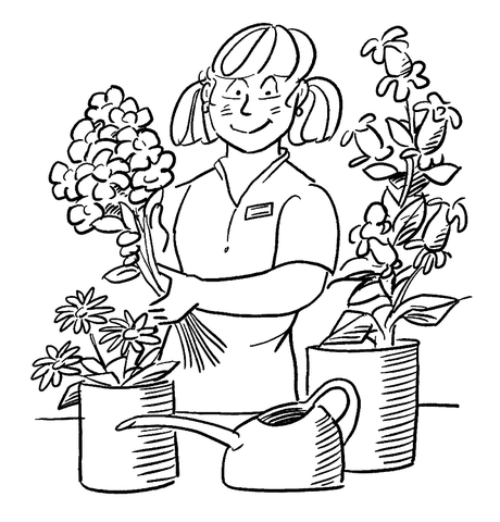 460x480 Florist Coloring Page Free Printable Pages