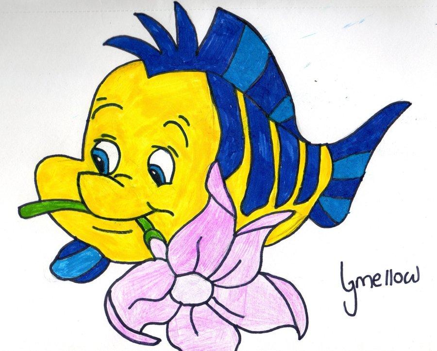 900x722 Flounder From The Little Mermaid By Aurorakitten94