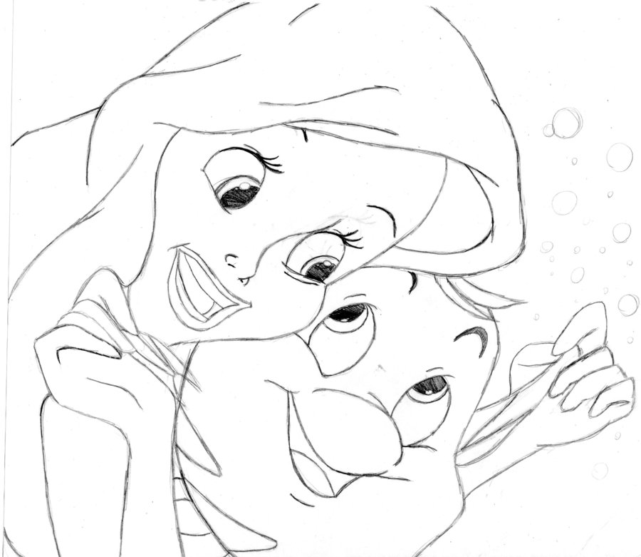 900x781 Ariel And Flounder By Wickedlover010