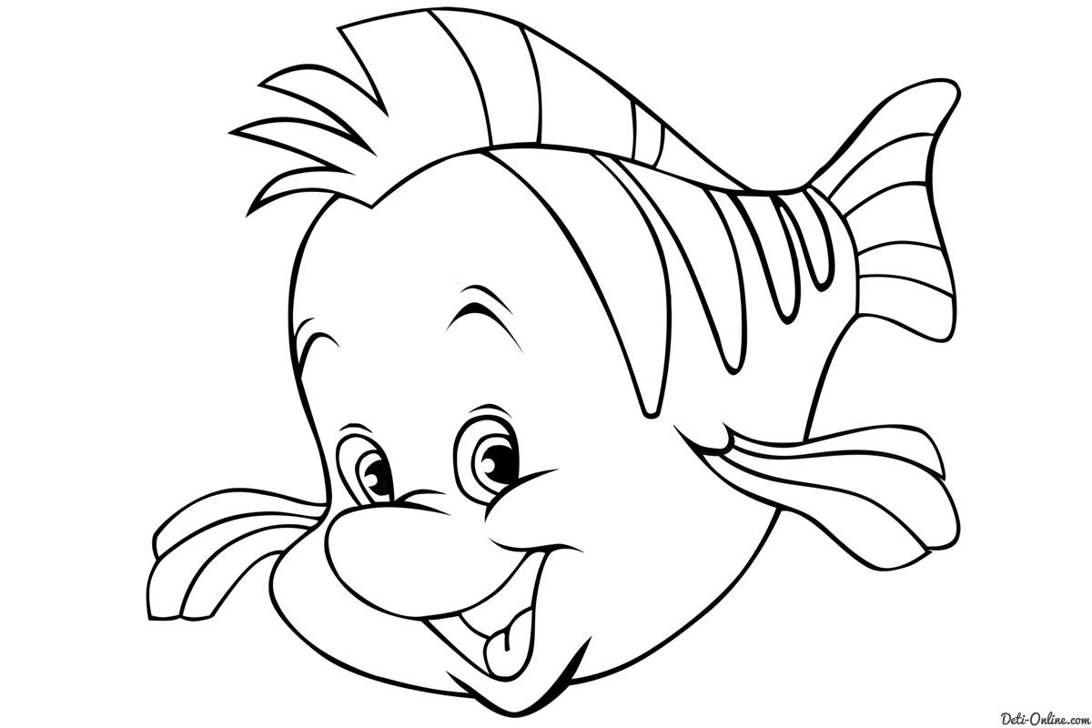 Flounder Little Mermaid Drawing At GetDrawings