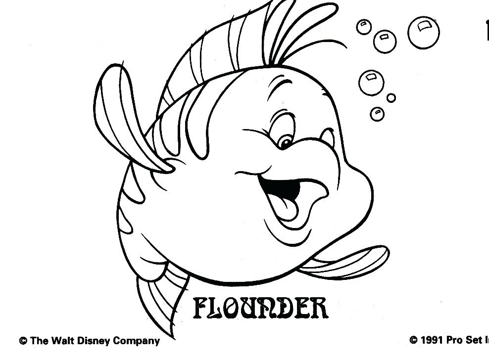 Flounder Little Mermaid Drawing